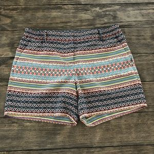 The Limited Dressy Floral Geo Shorts elastic back